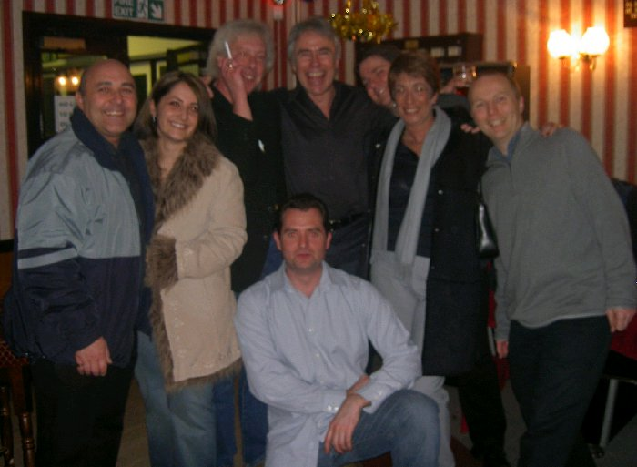 Brian, daughter Nicky, Geo, Andy, Peter, Pete, Brian's wife Sharon, and Graham
