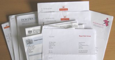 Pete vs Royal Mail - The paperwork